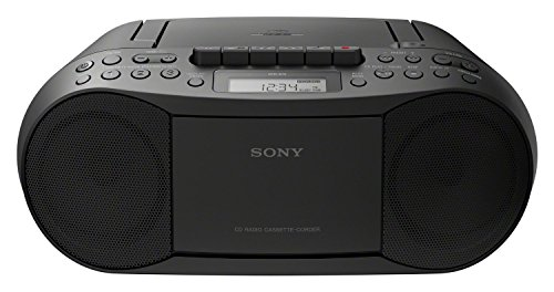 Sony CFD-70 - Reproductor Boombox (FM/AM, Casete, CD), Color Negro