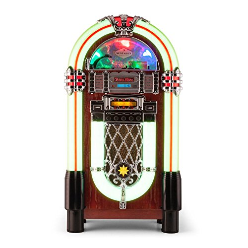 AUNA Graceland XXL Jukebox Vintage - Bluetooth , Reproductor CD , Puerto USB ,...