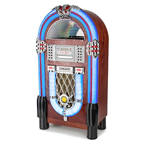 AUNA Graceland TT Jukebox Vintage - Bluetooth, Reproductor CD, Puerto USB,...